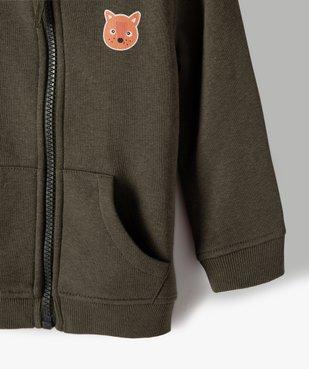 Sweat bébé garçon avec capuche et fermeture zippée vue3 - Nikesneakers C4G BEBE - Nikesneakers
