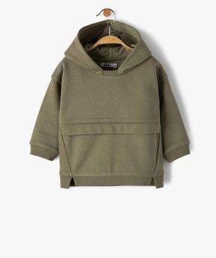 Sweat bébé garçon à capuche avec coutures asymétriques vue1 - Nikesneakers C4G BEBE - Nikesneakers