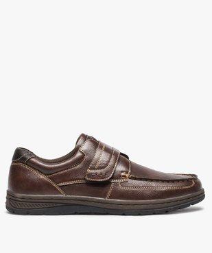 Chaussures bateau homme confort fermeture scratch vue1 - GEMO (CONFORT) - GEMO