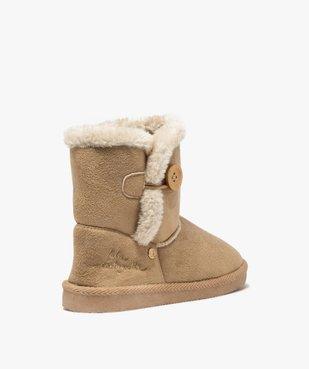 Boots fille en suédine à col fourré – LuluCastagnette vue4 - LULU CASTAGNETT - Nikesneakers