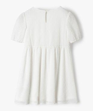 Robe fille courte à smocks et voile plumetis vue3 - GEMO (ENFANT) - GEMO