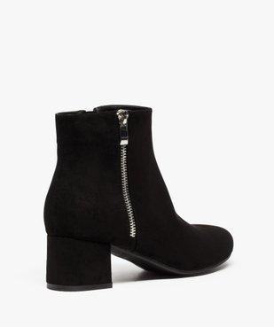 Boots femme à petit talon avec zip décoratif sur le côté vue4 - GEMO(URBAIN) - GEMO