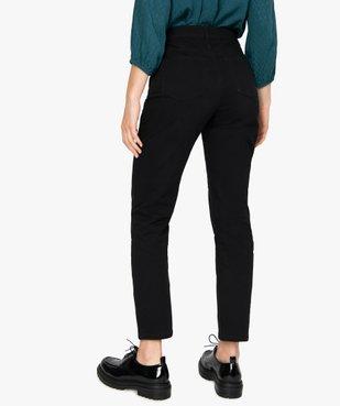 Jean femme coupe regular taille normale noir vue3 - GEMO(FEMME PAP) - GEMO