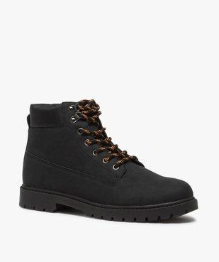 Boots homme à semelle crantée et lacets - Les Supaires à lacets bicolores vue2 - GEMO (CASUAL) - GEMO