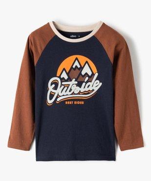 Tee-shirt garçon à manches longues multicolore à motif velours vue1 - Nikesneakers (ENFANT) - Nikesneakers