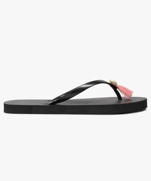 Tongs femme avec pampilles et coquillage vue2 - Nikesneakers (PLAGE) - Nikesneakers