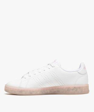 Baskets femme unies – Adidas Advantage Primegreen vue3 - ADIDAS - GEMO
