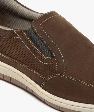 Chaussures bateau homme sans lacets – Terre de Marins vue6 - TERRE DE MARINS - GEMO