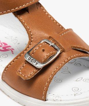 Sandales bébé en cuir uni ajustables - Bopy vue6 - BOPY - GEMO