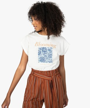 Tee-shirt femme à manches courtes avec motif fleuri vue2 - Nikesneakers C4G FEMME - Nikesneakers