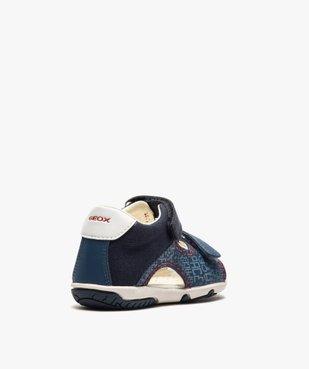 Sandales bébé garçon à scratch, intérieur cuir et - Geox vue4 - GEOX - GEMO