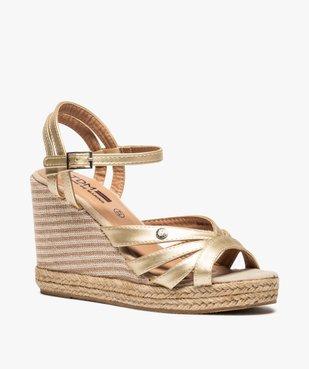Sandales femme à talon compensé et fines brides – Terre de Marins vue2 - TERRE DE MARINS - GEMO