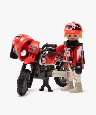 Jouet enfant pilote de motocross - Playmobil (5 pièces) vue2 - DIVERS LICENCE - GEMO