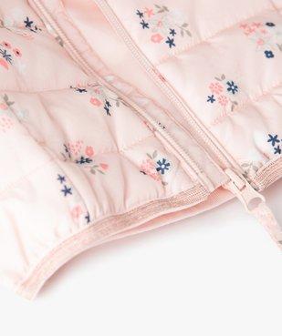 Doudoune bébé fille fine à motifs étoiles et détails pailletés vue4 - GEMO(BEBE DEBT) - GEMO