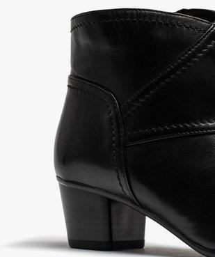 Boots femme à talon dessus cuir uni vue6 - GEMO(URBAIN) - GEMO