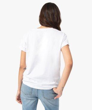 Tee-shirt femme avec motif positif vue3 - GEMO(FEMME PAP) - GEMO