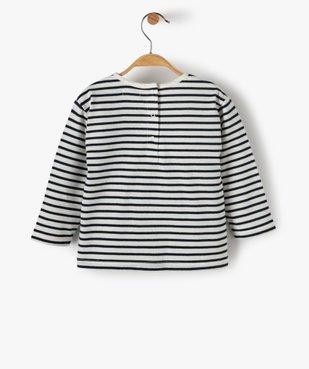 Tee-shirt bébé fille à rayures et motif sequins – Lulu Castagnette vue4 - LULUCASTAGNETTE - GEMO