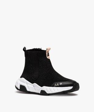 Baskets fille montantes style chaussettes - LuluCastagnette vue2 - LULU CASTAGNETT - Nikesneakers