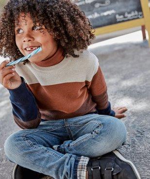 Pull garçon en maille fine 100% coton vue1 - Nikesneakers (ENFANT) - Nikesneakers