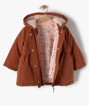Manteau bébé fille à capuche 3 en 1 vue3 - GEMO(BEBE DEBT) - GEMO
