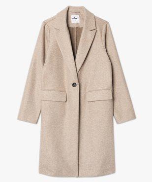 Manteau femme mi-long à col tailleur et fermeture 1 bouton vue4 - GEMO(FEMME PAP) - GEMO