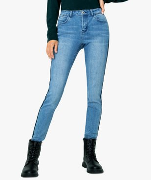 Jean femme slim à bandes latérales en velours vue1 - Nikesneakers(FEMME PAP) - Nikesneakers