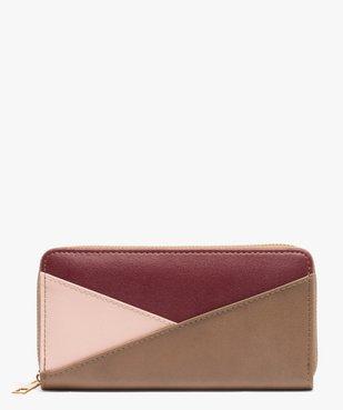 Portefeuille femme multicolore zippé vue1 - GEMO (ACCESS) - GEMO