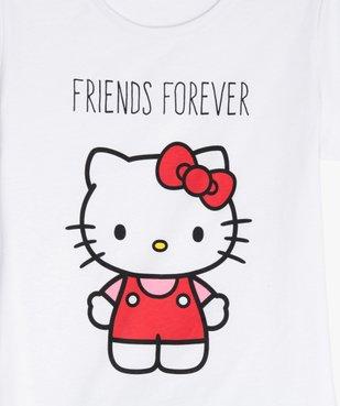 Pyjashort fille imprimé - Hello Kitty vue2 - HELLO KITTY - GEMO