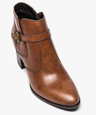 Boots pour femme avec bride et boucle métallique sur le côté vue5 - GEMO(URBAIN) - GEMO