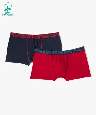 Boxer homme uni avec ceinture imprimée (lot de 2)  vue1 - Nikesneakers C4G HOMME - Nikesneakers