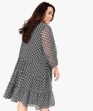 Robe femme imprimée fermeture boutonnée vue3 - GEMO (G TAILLE) - GEMO
