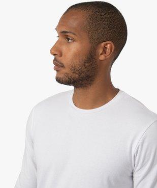 Tee-shirt homme à manches longues et col rond coupe slim vue2 - GEMO (HOMME) - GEMO
