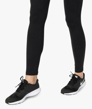Legging femme uni en coton extensible vue2 - GEMO(FEMME PAP) - GEMO