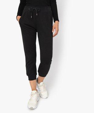 Pantalon de jogging femme longueur mollets vue1 - GEMO(FEMME PAP) - GEMO