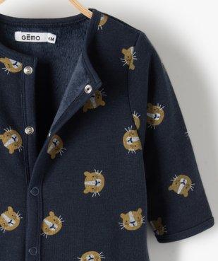 Pyjama bébé garçon avec motifs lionceaux vue2 - GEMO(BB COUCHE) - GEMO