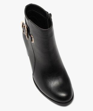 Boots femme unis à talon carré et bride fantaisie vue5 - GEMO(URBAIN) - GEMO