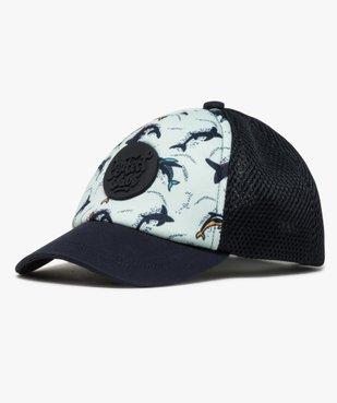 Caquette garçon bi-matières avec motifs dauphins vue1 - Nikesneakers (ENFANT) - Nikesneakers