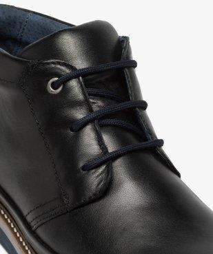 Boots homme lacés en cuir souple et semelle sport vue6 - GEMO(URBAIN) - GEMO