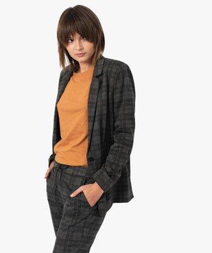 Veste femme à carreaux et col tailleur vue1 - GEMO(FEMME PAP) - GEMO