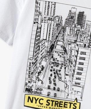 Tee-shirt garçon à manches courtes imprimé streetwear vue2 - GEMO C4G GARCON - GEMO