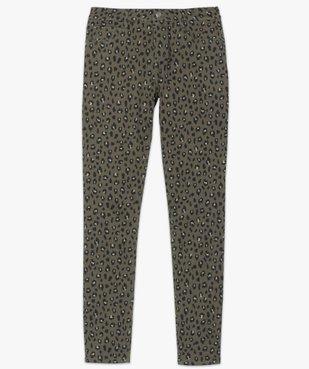 Pantalon femme coupe slim à motifs léopard vue4 - GEMO(FEMME PAP) - GEMO
