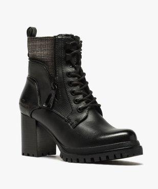Boots femme à talon carré et semelle crantée – Tom Tailor vue2 - TOM TAILOR - GEMO