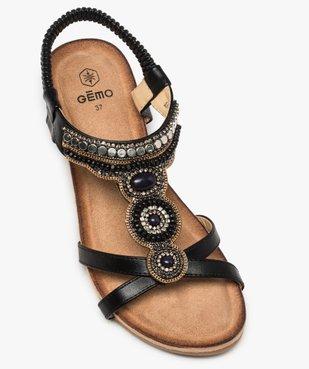 Sandales femme à talon et brides élastiques dessus perles vue5 - GEMO(URBAIN) - GEMO
