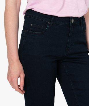 Jean femme skinny taille normale coloris foncé vue2 - GEMO C4G FEMME - GEMO
