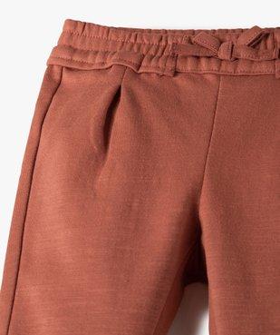 Pantalon bébé fille en maille avec ceinture élastique vue2 - GEMO C4G BEBE - GEMO