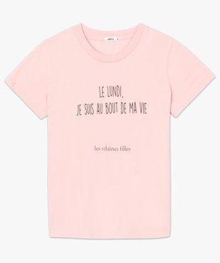 Tee-shirt femme à message fantaisie - GEMO x Les Vilaines filles vue4 - GEMO(FEMME PAP) - GEMO