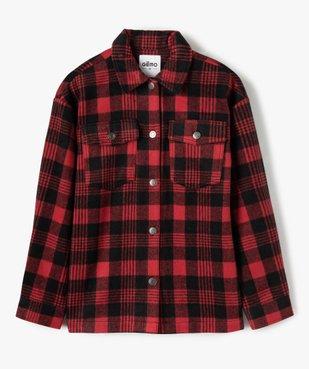 Veste fille façon chemise à carreaux vue1 - GEMO (JUNIOR) - GEMO