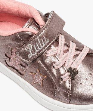 Tennis fille métallisées à lacets et scratch – Lulu Castagnette vue6 - LULU CASTAGNETT - Nikesneakers