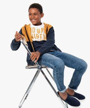 Tee-shirt garçon à manches courtes avec message vue5 - GEMO (ENFANT) - GEMO