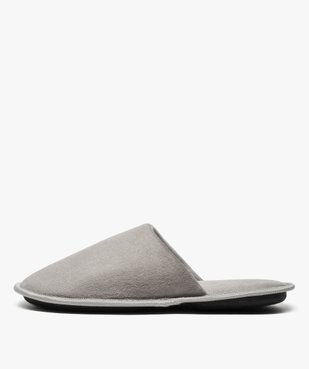 Chaussons homme forme mules velours avec liserés vue3 - Nikesneakers(HOMWR HOM) - Nikesneakers